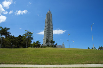 Revolution square monument in Havana