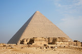 great pyramid in Giza, near of Cairo, capital of Egypt poster