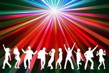 disco - silhouetten weiss poster
