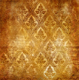 vintage rub background with classic patterns poster