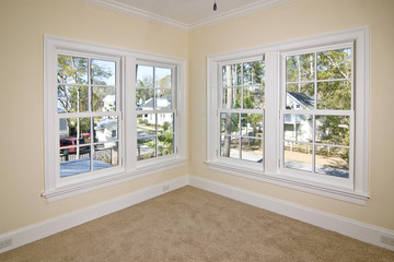 unfurnished bedroom with view, place your own furniture
