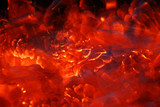 Burning Coal abstract just before using it to cook food poster
