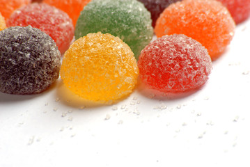 Close up of colourful candy