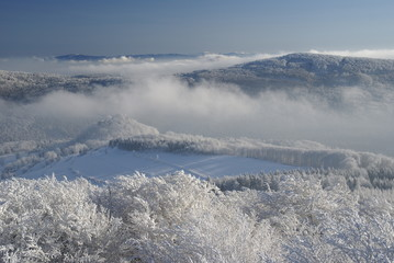 Witner inversion in hilly country