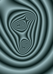 A fractal generated tunnel effect