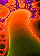 Cell Biology - A fractal generated background