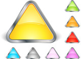 Lot de triangles colorés poster