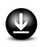 Download Button - black poster
