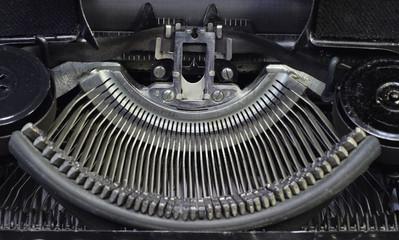 Old cyrillic typewriter