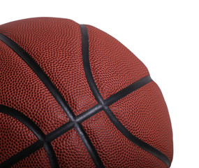 Closeup Isolation of a Basketball on White Background