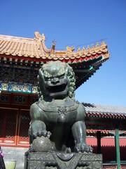 Bronze Lion in Beijing / China