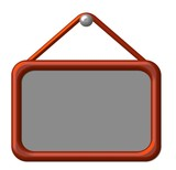 info tafel rot poster