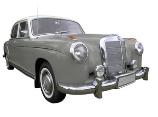 Mercedes Benz 220S 1956 isolated with clipping path