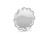 3D silver vector badge with contour poster