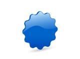 3D blue vector badge poster