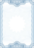 Fototapety Classic guilloche border for diploma or certificate. A4
