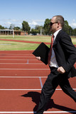Businessman in a hurry poster