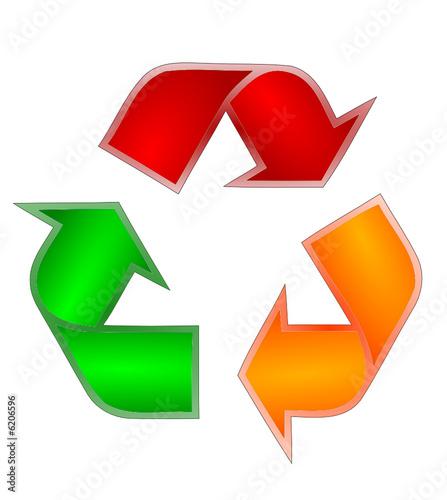 símbolo da reciclagem colorido