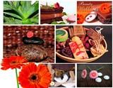 Fototapety Wellness Collage Karte