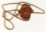 Wax seal with rope poster