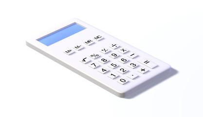 Taschenrechner white design nondisplay