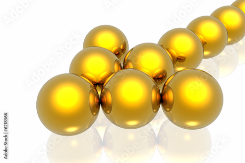 golden team isolated on white