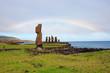 Regenbogen über der Tahai Anlage auf der Osterinsel