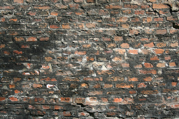 Wall from the bricks. Background, texture
