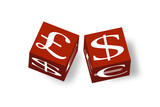 3D money cubes showing 3 common currencies poster