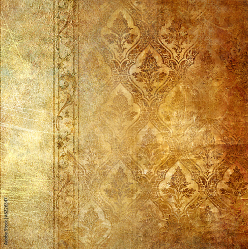 Aluminium Retro vintage background with patterns