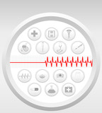 Vector Medical Icons Set  poster