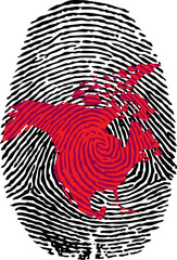 North America-fingerprint