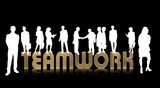 teamwork gold - silhouetten poster