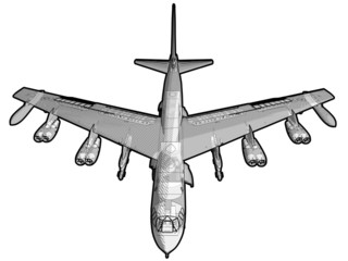Illustration of a B-52 Bomber.