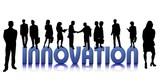 innovation blau poster