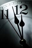 clock face, concept of Deadline, Stress, Fear poster