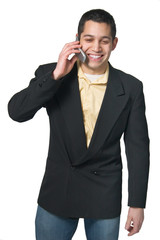 Young man on cell phone