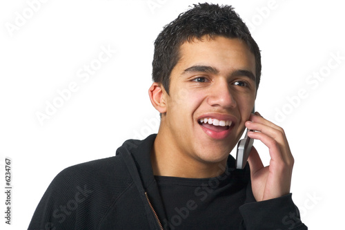 Teenager on cell phone