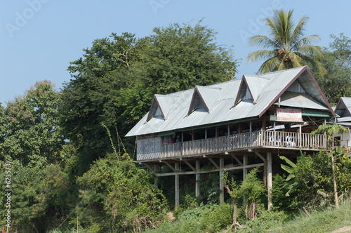 Home on the Mekong river, Laos