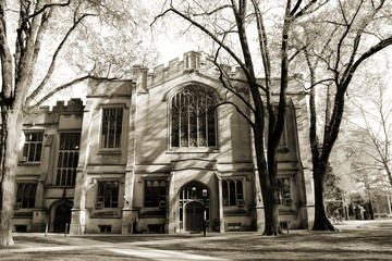 Princeton university dorm in sepia, New Jersey