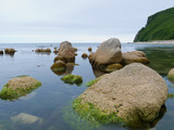 A close-up of the stones in sea. Russian Far East, Primorye. poster