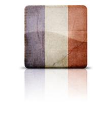 Grunge style flag of France