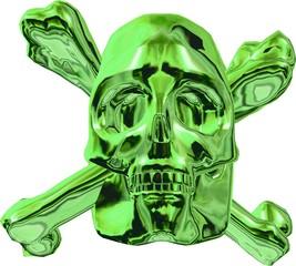 Giftgrüner Pireten-Schädel