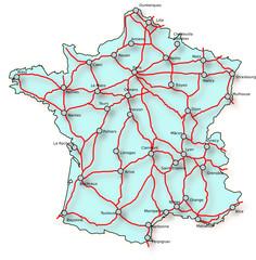 carte route france