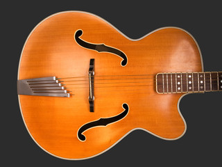 Old archtop jazz guitar body