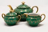 antique porcelain tea set poster