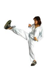 sport marziale ragazza allenamento