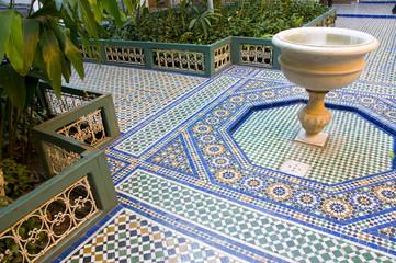 Palais Bahia, Marrakech, Maroc.
