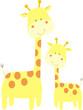 jirafa con su hija