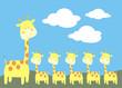 familia de jirafas